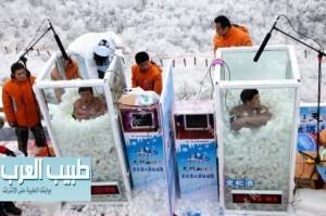 حمام الثلج يساعد البدناء علي التخلص من الوزن