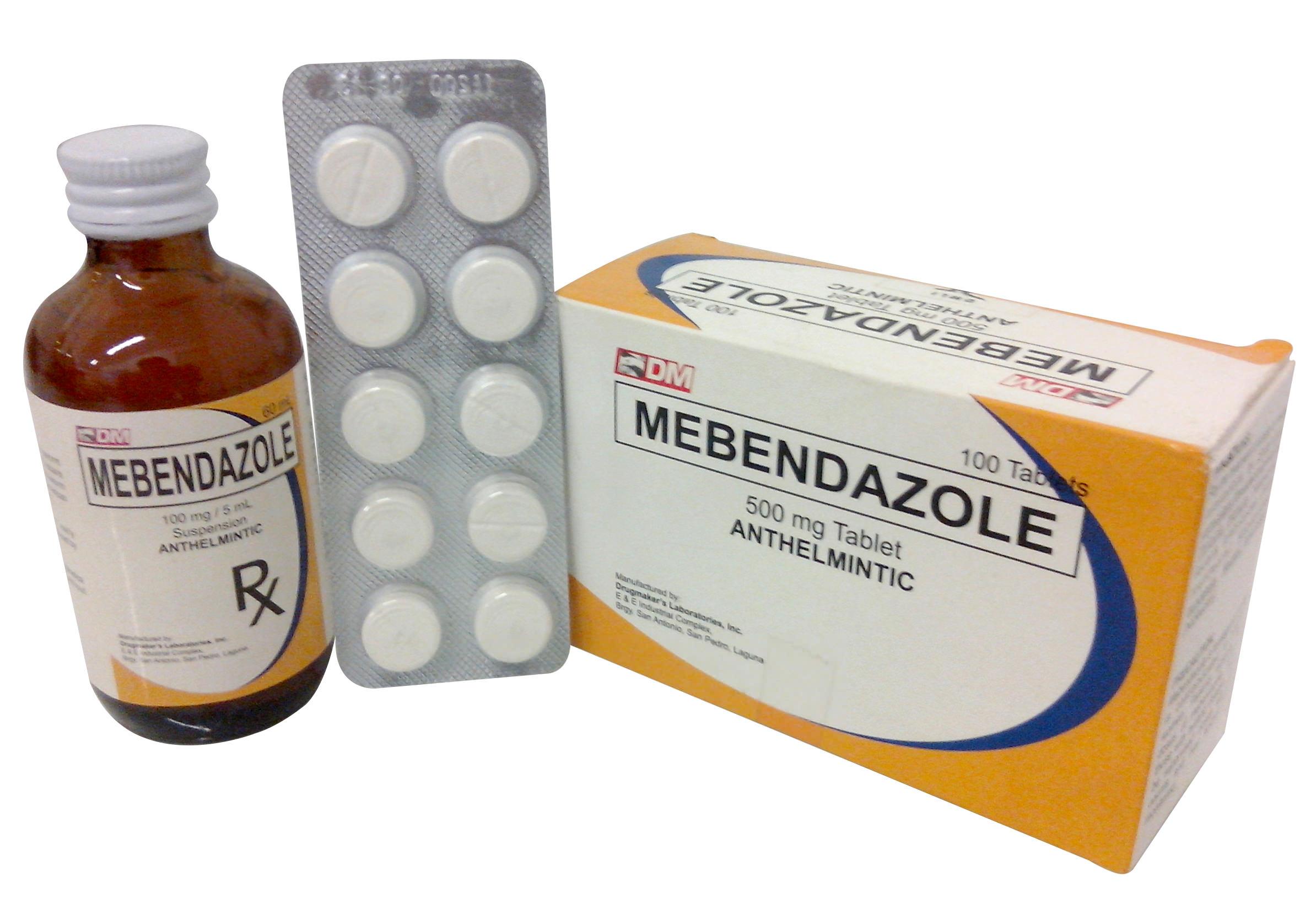 ميبندازول (أقـراص، معلـق) لعلاج الديدان mebendazole